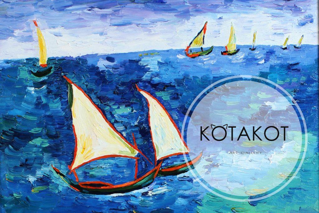 Сайт-визитка для художественной галереи КОТАКОТ АРТ